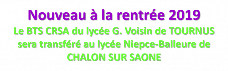 Bts Crsa Cité Niepce Balleure à Chalon Sur Saône